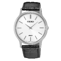 SEIKO Men's Solar Classic Leather Strap Watch SUP873P1 《並行輸入品》