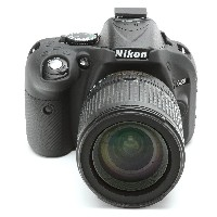 DISCOVERED イージーカバー Nikon D5200 用 液晶保護フィルム付 ブラック D5200-BL