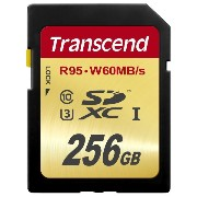 Transcend 256 GB High Speed 10 UHS-3 Flash Memory Card 95/60 MB/s (TS256GSDU3) [並行輸入品]