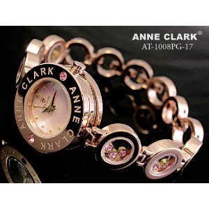 【ANNE CLARK】アンクラーク 天然ダイヤ入り AT-1008-17PG レディース 文字盤:ピンク(天然シェル)