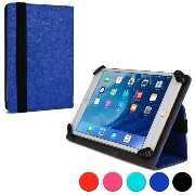 Cooper Cases (TM) Infinite ユニバーサル 7 - 8インチSony Xperia Z3 Tablet Compactタブレットフォリオケース(ブルー)(様々なタブレットで使用...