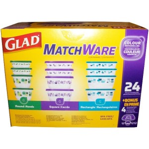Glad Matchware Food Storage Container Set 24 Pieces