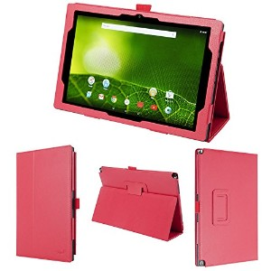 wisers テックウインド TEKWIND CLIDE A10A A10A-A51BK 10.1インチ タブレット 専用 ケース カバー レッド