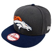 New Era NFL Denver Broncos Graphite Snapback Cap M L 9fifty Limited Edition