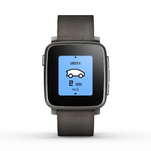 Pebble Time Steel Smartwatch for Apple/Android Devices - Black [並行輸入品]