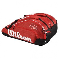 (ウィルソン) WILSON FEDERER TEAM III 12 PACK RD . RED