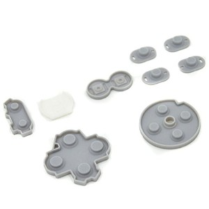 WII U PADゲームパッド 用 コントローラーボタンパッド Replacement Parts Controller Rubber Conductive Buttons Pad