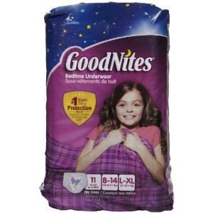 Goodnites Underwear - Girl - 11 ct., Size 11 by Kimberly-Clark [並行輸入品]