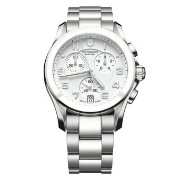 ビクトリノックス Victorinox Swiss Army Unisex 241538 Silver Chrono Classic with Ceramic Bezel Watch 男性 メンズ...