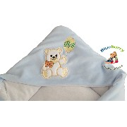 BlueberryShop Signature for CARSEAT (3 point harness) Hooded Velour Swaddle Wrap Blanket Sleeping...