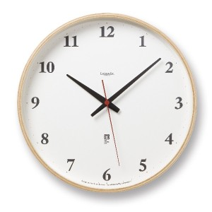 Lemnos Plywood clock 電波時計 ナチュラル LC05-01W NT