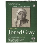 Pro-Art Strathmore Toned Sketch Spiral Pad 11-inch x 14-inch, Gray 24 Sheets by Pro-Art