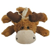 KONG Cozie MARVIN THE MOOSE Medium Dog Toy Brown (ZY26)