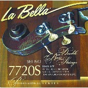 La Bella 7720S/Professional/Solo/Extra Light Tension/Double Bass Strings/Nickel Chrome Steel Flat...