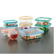 Snapware Total Solution 18-pc Glass Food Storage Set, 100% Airtight and Leakproof, BPA Free by...