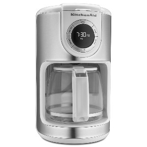 KCM1202WH Glass Carafe コーヒーメーカー(12カップ) KitchenAid社 White【並行輸入】