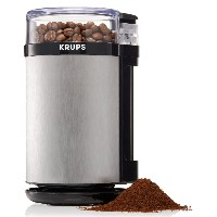 KRUPS GX4100 Electric Spice Herbs and Coffee Grinder with Stainless Steel Blades and Housing, Grey ...