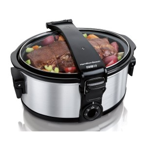 【並行輸入】Hamilton Beach 33461 Stay or Go 6-Quart Portable Slow Cooker スロークッカー