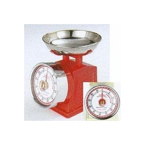 "Kitchen timer ""American scale look"" Red"