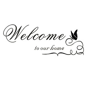 SODIAL(R) ウォールステッカー 壁紙シール ウォールシールWelcome to Our Home