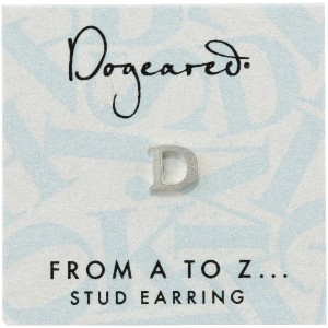 [ドギャード] DOGEARED from a to z earring, SS, little D V3SSZ00210304