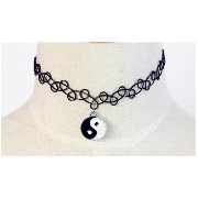 Vintage Braided Fish Line Elastic choker Necklace Eight Diagrams Retro Gothic