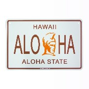 Seaweed Surf Co. STREET SIGNS HAWAII ALOHA ALOHA STATE/ L 【サインプレート】 SF68 L