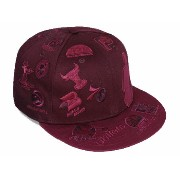 NEW ERA NBA 【SILHOUETTE ALL-OVER/MAROON】 ニューエラ ロゴマン 59FIFTY フィッテッド キャップ FITTED CAP LOGOMAN [帽子...