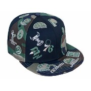 NEW ERA NBA 【SILHOUETTE ALL-OVER/CAMO】 ニューエラ ロゴマン 59FIFTY フィッテッド キャップ FITTED CAP LOGOMAN 迷彩 [帽子...