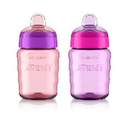 Philips AVENT ステージ2 トレーニング マグ My Easy Sippy Cup 260ml (ピンク&パープル) [並行輸入品]
