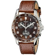 (ビクトリノックス) VICTORINOX Unisex 241498 Chrono Classic Stainless Steel Watch with Brown Leather Band ...