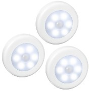 3PCS Motion Sensor Light, Amir? Battery-Powered Motion Sensor LED Night Light Stick-Anywhere...