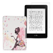 kwmobile 2IN1セット:フリップ人工皮革ケース 妖精デザイン Amazon Kindle Paperwhite (2012/2013/2014/2015)用 ダークピンク...