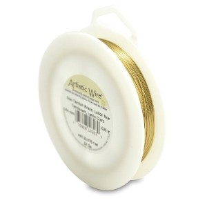 Artistic Wire 22-Gauge Wire, 1/4-Pound (Non Tarnish Brass)