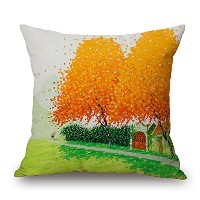 18 X 18 Inches / 45 By 45 Cm Plant Cushion Covers ,twin Sides Ornament And Gift To Divan,family...