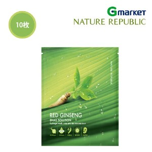 【NATURE REPUBLIC】【ネイチャーリパブリック】スネイル ソルーション 紅参 ハイドロゲル マスク/Snail Solutiion Red Ginseng Hydrogel Mask...