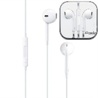 Ear Pods with Remote and Mic (iPod・iPhone用イヤホン) スマホ 多機種対応 最新型 イヤホン リモコン付き マイク付き (ホワイト)