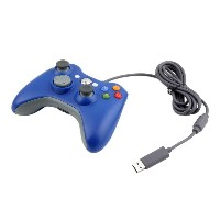 ICOCO USB ゲームコントローラー 有線 Xbox/Windows対応 Xbox360 Controller for Windows (ブルー)