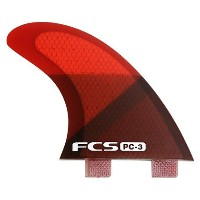 FCS FIN PC-3 RED SLICE TRI FIN SET