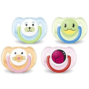 Avent Animal Soother Pacifier (6-18 Months), 4 Pack by Philips Avent [並行輸入品]