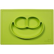 ezpz Happy Mat - One-piece silicone placemat + plate (Lime) by ezpz