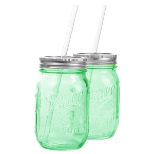REDNEK Sippers Glass Green ストロー付き 2個セット レッドネック シッパー グラス グリーン