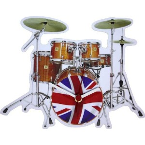 Lark Rise Designs Wooden Clock(クロック)・時計 Union Jack Drums LRC28