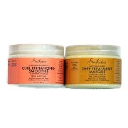 Shea Moisture Coconut Hibiscus Curl Enhancing Smoothie & Organic Raw Shea Butter Deep Treatment...