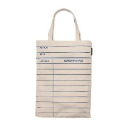 【Out of Print】 Library Card Tote Bag (Natural)