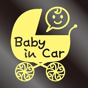 nc-smile Baby in car ステッカー ベビーカー Baby carriage pram stroller (ジャスミン)
