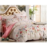 FeiLimei Bedding&Clothes 布団カバー 綿100 4点セット 花柄 BC1816