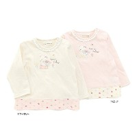 coeur a coeur(クーラクール) 長袖Tシャツ (70~100cm) キムラタンの子供服 (44001-171a) ピンク 90