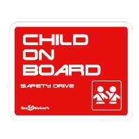Seal&Sticker's クールデザインのChild on Board ステッカー3 sts-con-3-st-red (レッド)