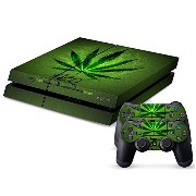Sony PS4 Playstation 4 Skin Design Foils Faceplate Set - Cannabis 2 Design